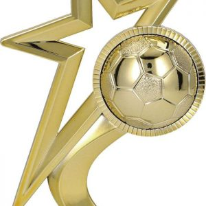 Figúrka plast. hviezda futbal zlatá, výška 16,5cm