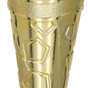 Figúrka plastová futbal zlatá, výška 15 cm