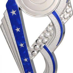 Figúrka plastová všeobecná strieborno-modrá, výška 16,5 cm