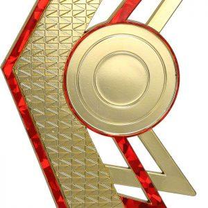 Figúrka plastová všeobecná zlato-červená, výška 16,5 cm