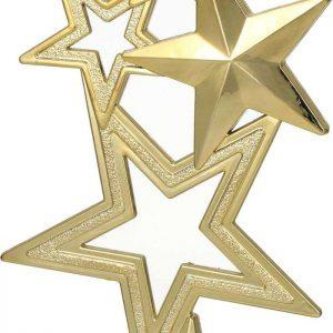 Figúrka plastová hviezda zlatá, výška 16,5 cm