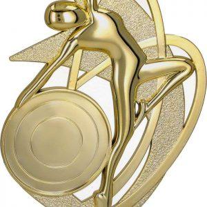 Figúrka plastová tanec zlatá, výška 16,5 cm