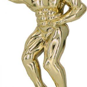 Figúrka plast. kulturista zlatá, výška 13cm