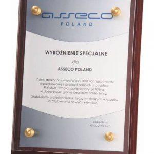 Diplom drevený s plexisklom - 30,5x23cm