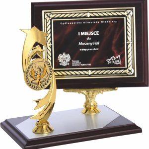 Diplom drevený s figúrkou, 20x15cm