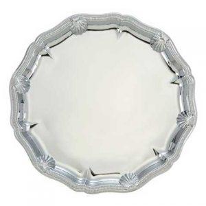 Tanier okrúhly - strieborný