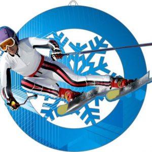 Plexi medaila - lyžovanie, 70mm
