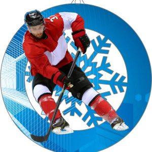 Plexi medaila - hokej, 70mm