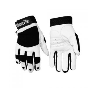 Pánske curlingové rukavice White Leather gloves