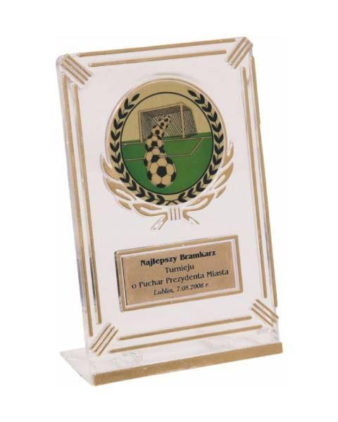 Plastová trofej číra, zlatá - 12cm