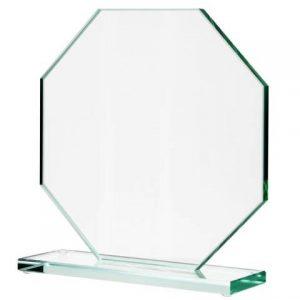 Sklenená trofej - osemuholník