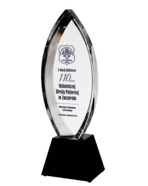 Sklenená trofej 30cm + obal